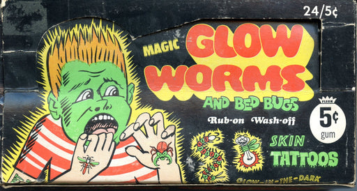 Glow Worms Empty Vintage Card Box Fleer 5 Cent   - TvMovieCards.com