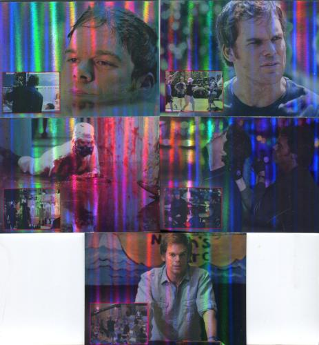 Dexter Seasons 1 & 2 Behind The Scenes Foil Chase Card Set 5 Cards   - TvMovieCards.com