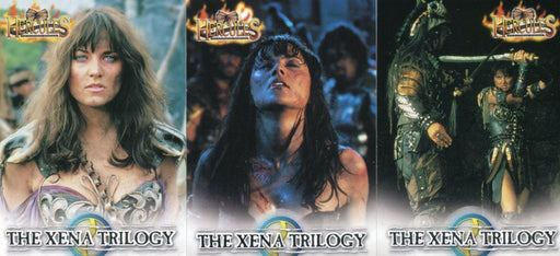 Hercules The Complete Journeys Xena Trilogy Chase Card Set 3 Cards XT1 thru XT3   - TvMovieCards.com