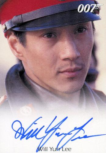 James Bond Heroes & Villains Will Yun Lee as Colonel Moon Autograph Card   - TvMovieCards.com