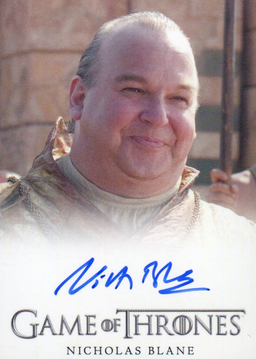 Game of Thrones Season 3 Nicholas Blane as Spice King Autograph Card   - TvMovieCards.com