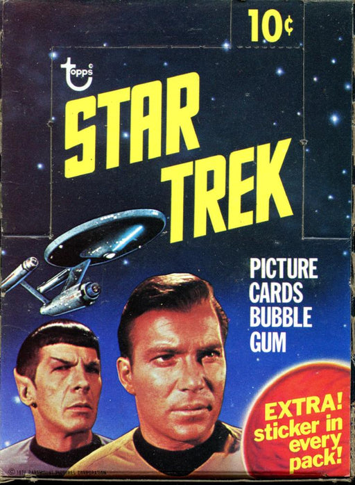 Star Trek 1976 Empty Vintage Card Box  Topps 10 Cent   - TvMovieCards.com