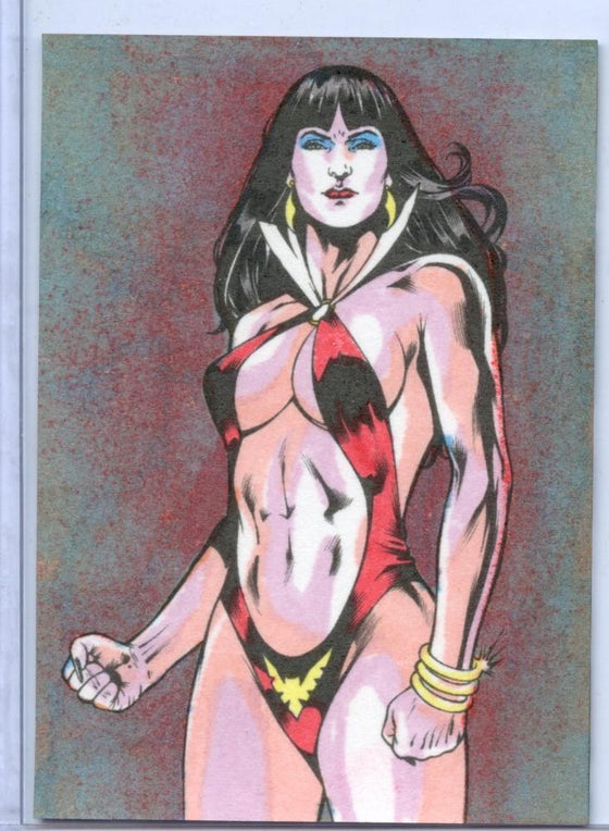 Vampirella New Series Hand Colored Card VH-1 by Paul Williams