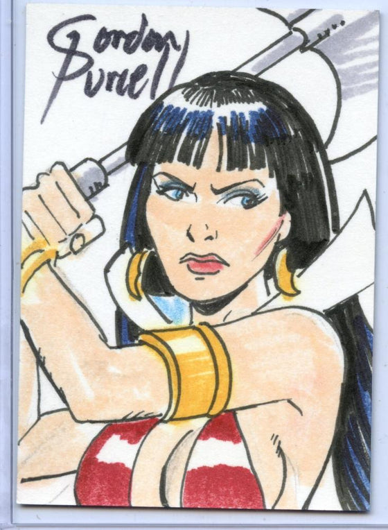 Vampirella New Series Sketch Card Sketchafex by Gordon Purcell #3