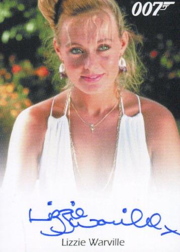James Bond Archives 2015 Edition Lizzie Warville Autograph Card   - TvMovieCards.com