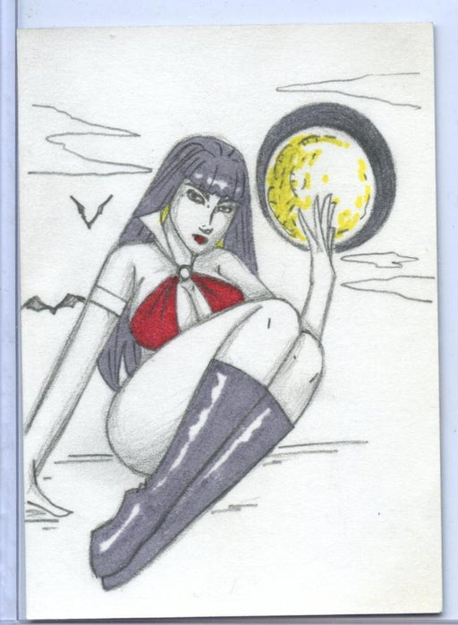 Vampirella New Series Sketch Card Sketchafex by Jenn Corella   - TvMovieCards.com