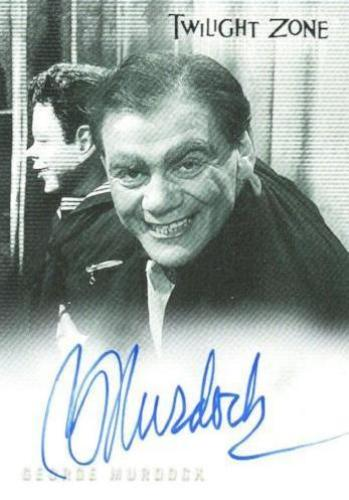 Twilight Zone 3 Shadows and Substance George Murdock Autograph Card A-52   - TvMovieCards.com