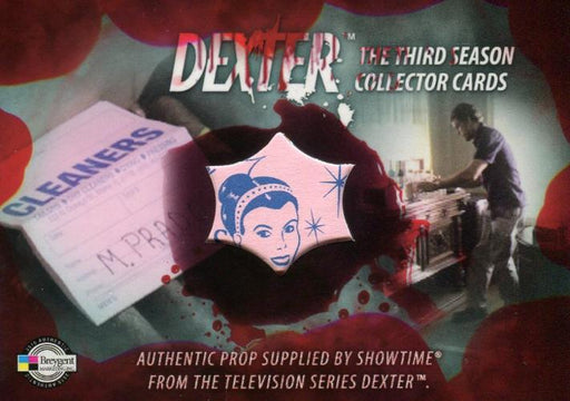 DEXTER Season 3 Dry Cleaner Tags Prop Card D3-P11   - TvMovieCards.com