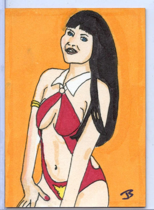 Vampirella New Series Sketch Card by Jay Shimko   - TvMovieCards.com