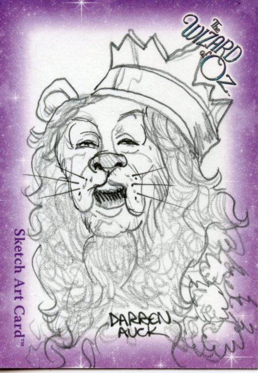 Wizard of Oz Sketch Card by Darren Auck Lion   - TvMovieCards.com