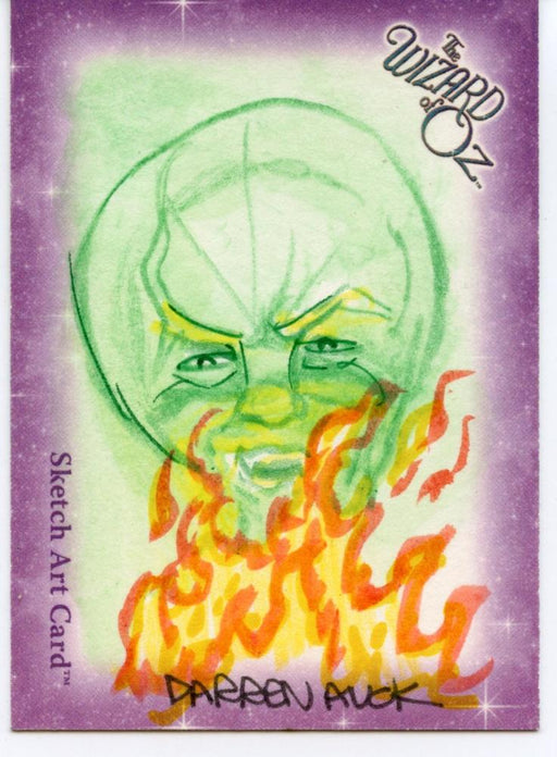 Wizard of Oz Sketch Card by Darren Auck Wizard   - TvMovieCards.com