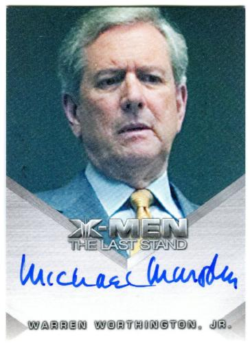 X-Men The Last Stand Autograph Card Michael Murphy as Warren Worthington Jr   - TvMovieCards.com