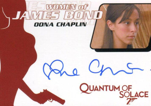 James Bond Archives 2014 Edition Oona Chaplin Autograph Card WA55   - TvMovieCards.com