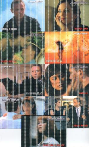 James Bond Heroes & Villains Lenticular Expansion Card Set 9 Cards   - TvMovieCards.com