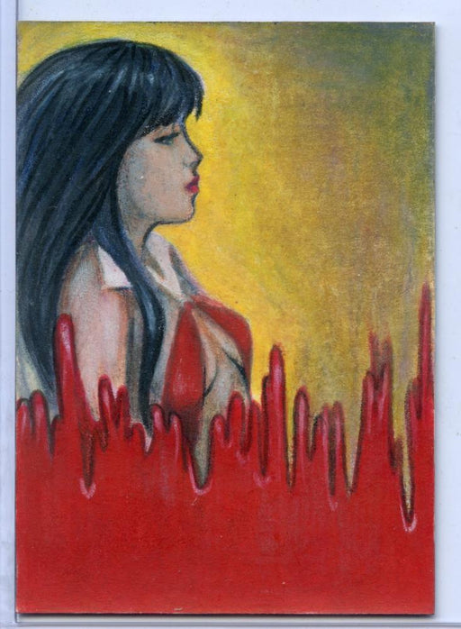 Vampirella New Series Sketch Card Sketchafex by Kimberly Dunaway   - TvMovieCards.com