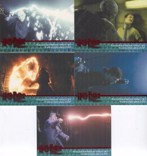 Harry Potter Order of Phoenix Update Red Foil Promo Card Set 5 Cards   - TvMovieCards.com