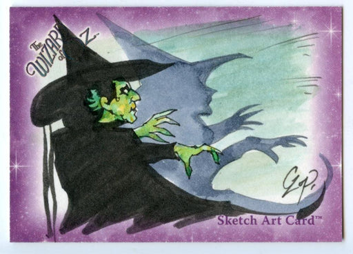 Wizard of Oz Sketch Card by John Czop Wicked Witch   - TvMovieCards.com