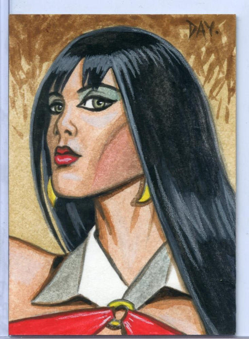 Vampirella New Series Sketch Card Sketchafex by David Day   - TvMovieCards.com