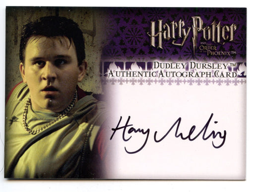 Harry Potter Order Phoenix Update Harry Melling Autograph Card   - TvMovieCards.com