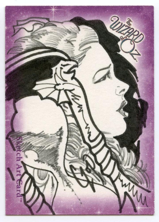 Wizard of Oz Sketch Card by John Czop Dorthy Side view
