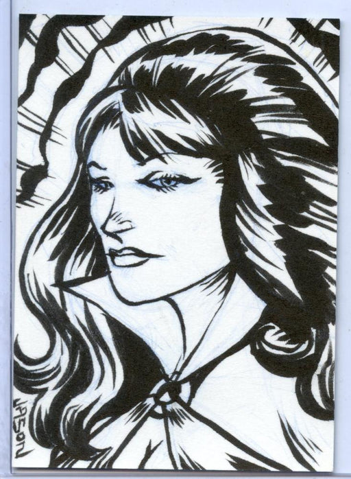Vampirella New Series Sketch Card Sketchafex by Jason Keith Phillips   - TvMovieCards.com