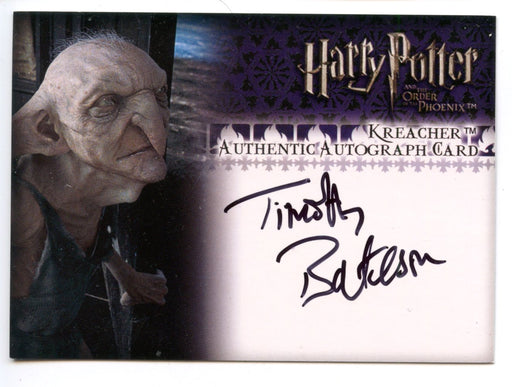Harry Potter Order Phoenix Update Timothy Bateson Autograph Card   - TvMovieCards.com