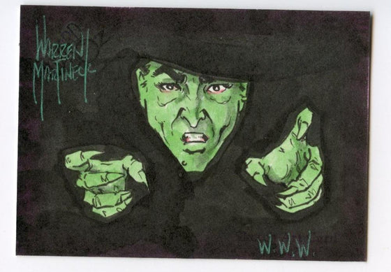 Wizard of Oz Sketch Card by Warren Martineck Wicked Witch Color