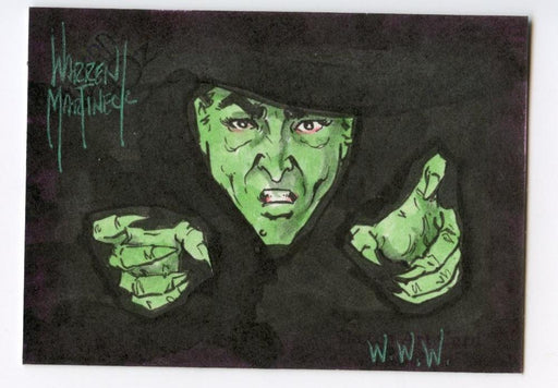 Wizard of Oz Sketch Card by Warren Martineck Wicked Witch Color   - TvMovieCards.com