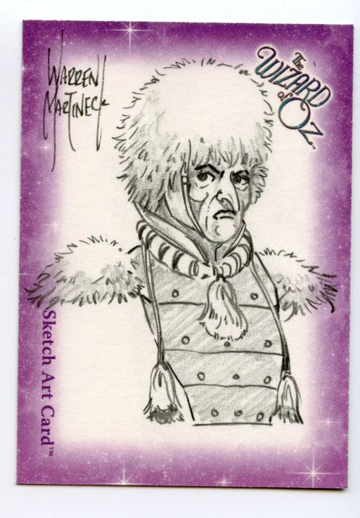 Wizard of Oz Sketch Card by Warren Martineck Guard   - TvMovieCards.com