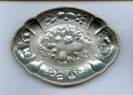Repousse Berry Candy Dish 5-3/4 Inch By Israel Freeman and Son  Sterling Silver*   - TvMovieCards.com