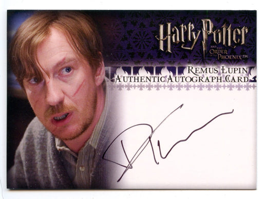 Harry Potter Order Phoenix Update David Thewlis Autograph Card   - TvMovieCards.com