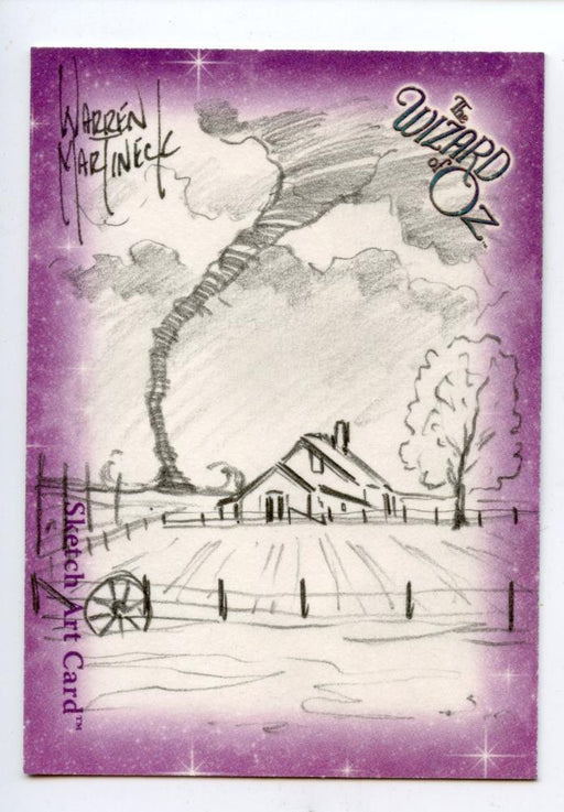 Wizard of Oz Sketch Card by Warren Martineck Twister   - TvMovieCards.com