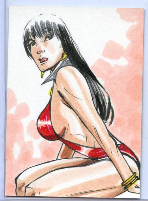 Vampirella New Series Sketch Card Sketchafex by Marcelo Ferreira   - TvMovieCards.com