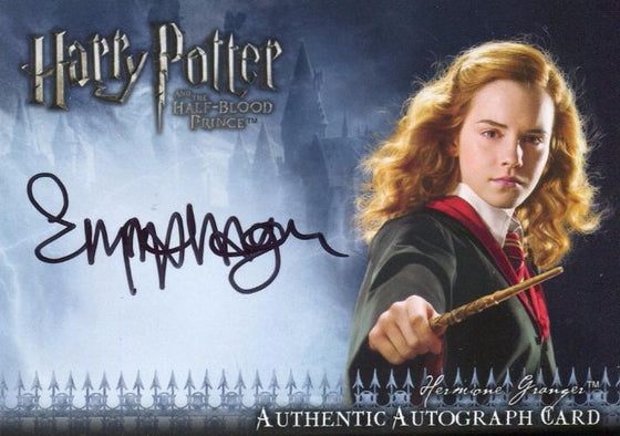 Harry Potter Half Blood Prince Emma Watson Autograph Card Front