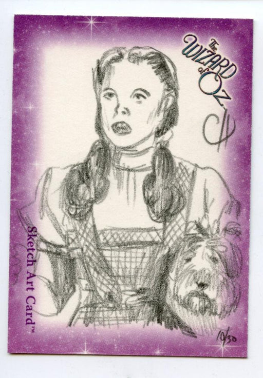 Wizard of Oz Sketch Card by Chris Henderson Dorothy   - TvMovieCards.com