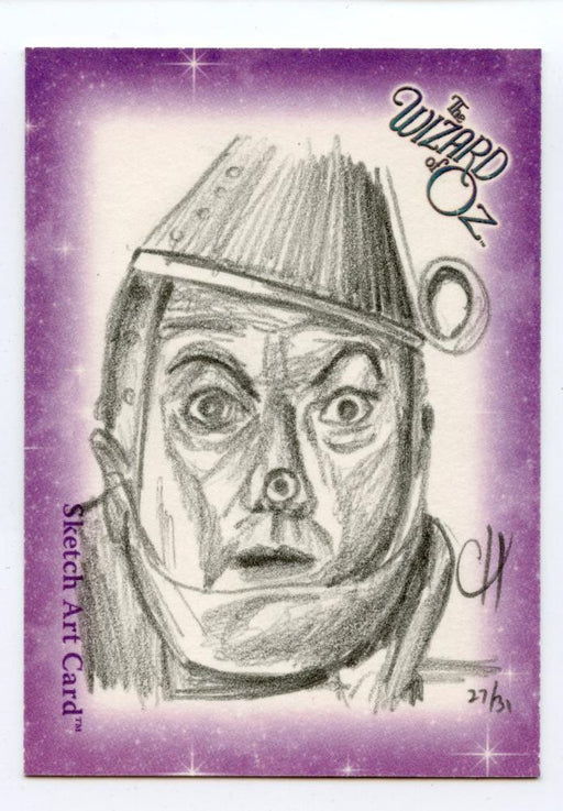 Wizard of Oz Sketch Card by Chris Henderson Tin Man   - TvMovieCards.com
