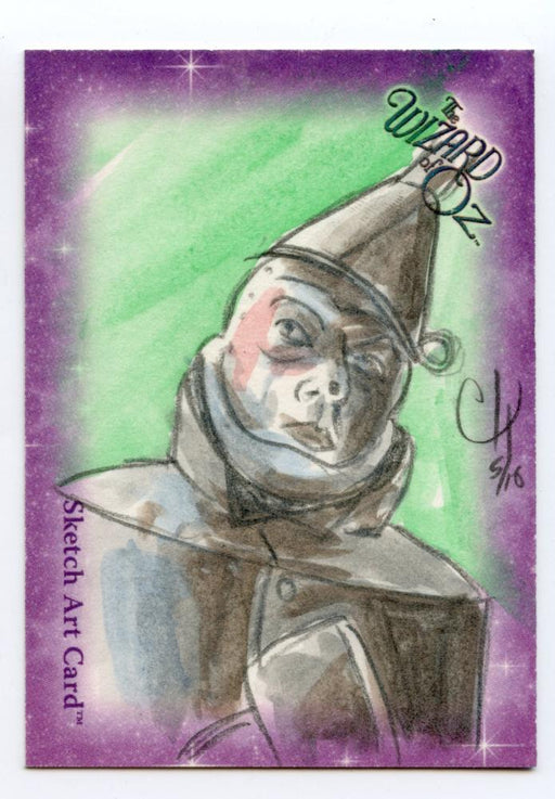 Wizard of Oz Sketch Card by Chris Henderson Tin Man Color   - TvMovieCards.com