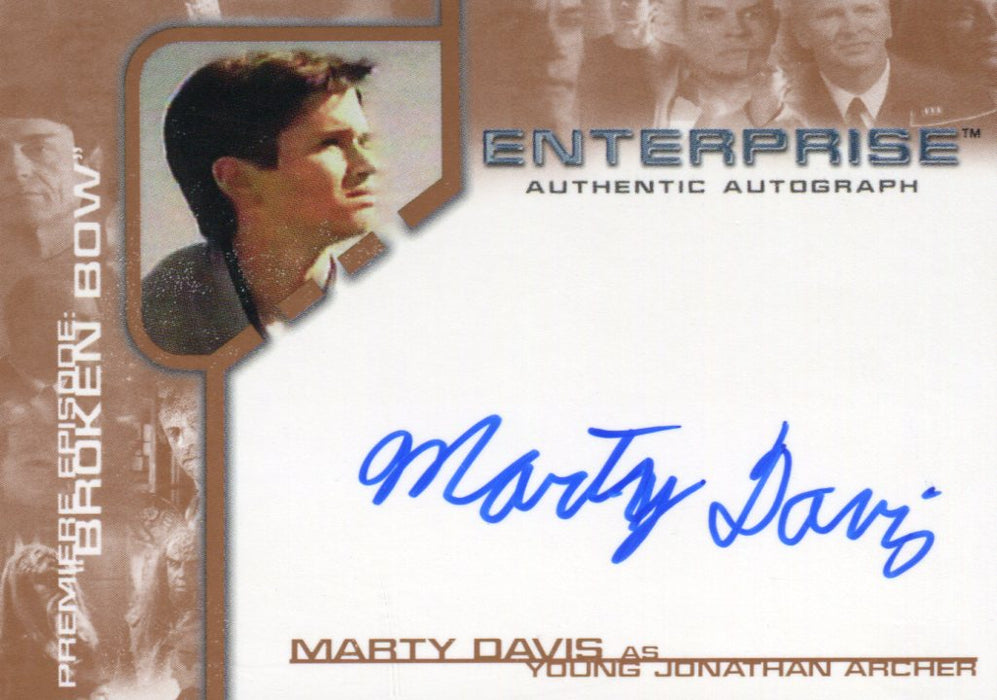 Star Trek Enterprise Season One 1 Autograph Card Marty Davis Young Archer BBA13   - TvMovieCards.com