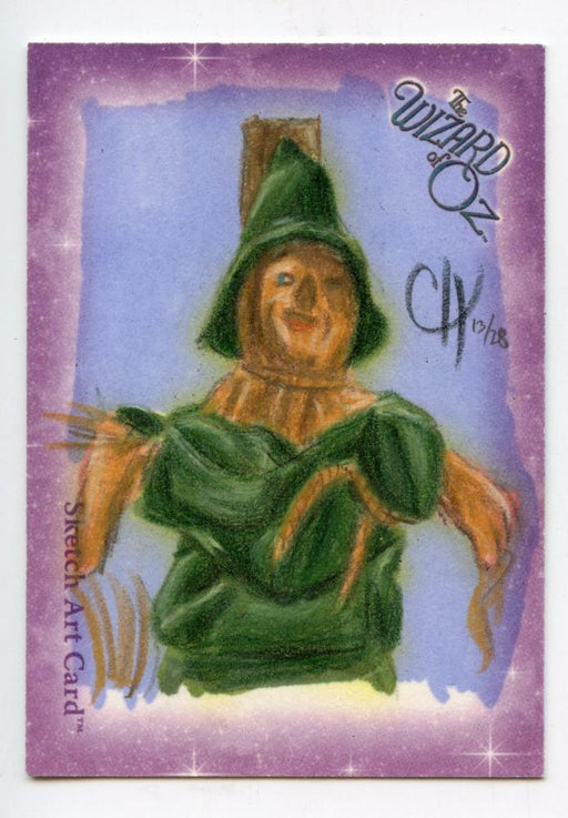 Wizard of Oz Sketch Card by Chris Henderson Scarecrow Color   - TvMovieCards.com