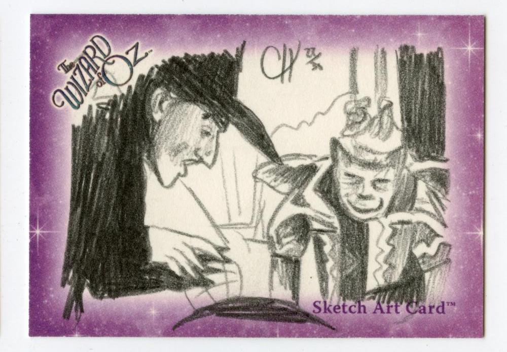 Wizard of Oz Sketch Card by Chris Henderson Witch with Monkey