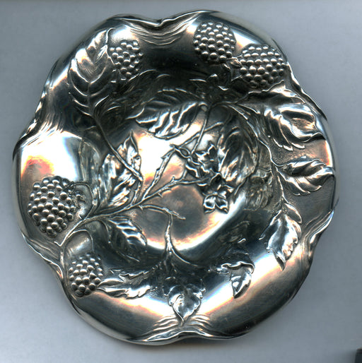 Embossed Berry Candy Dish  6- Inch Sterling Silver*   - TvMovieCards.com