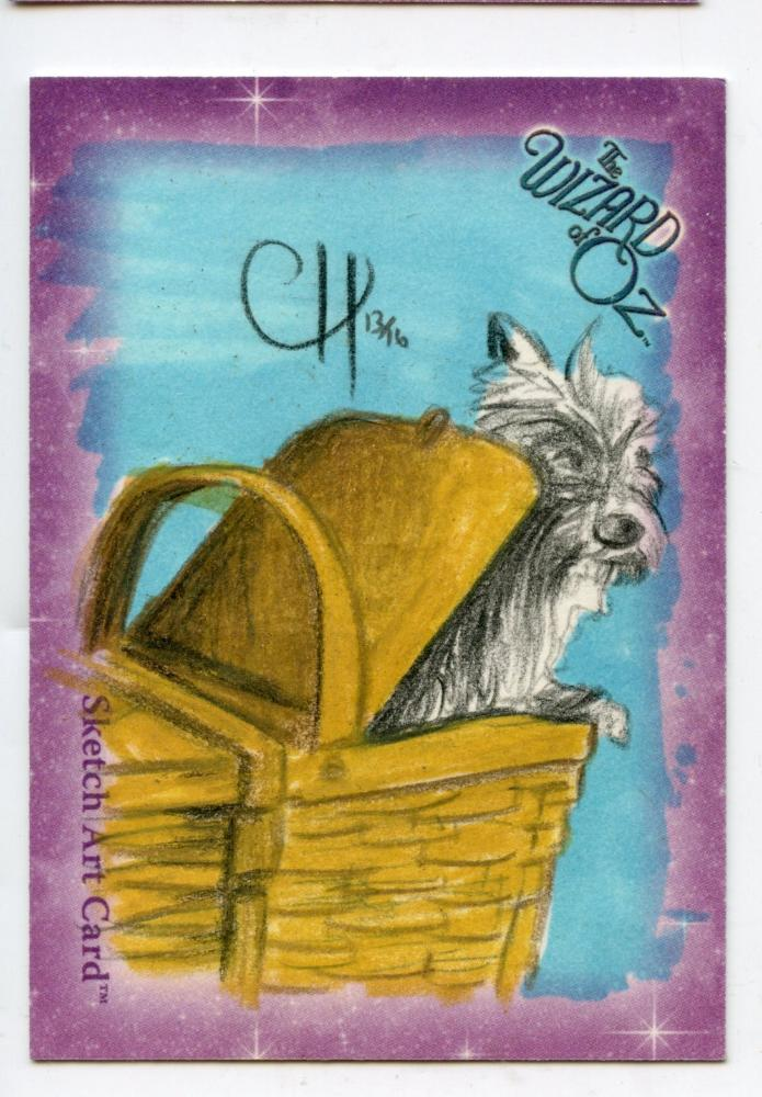Wizard of Oz Sketch Card by Chris Henderson  Toto Color