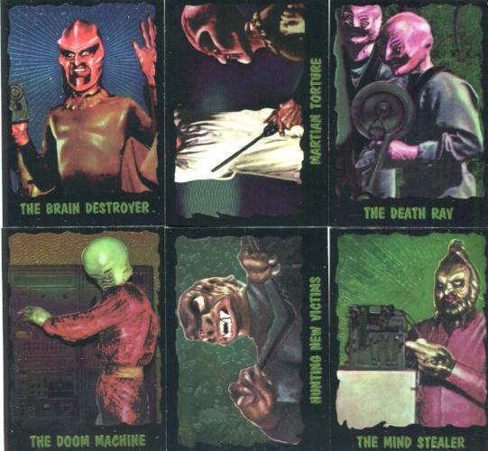 Outer Limits 1997 Chromium Chase Card Set 6 Cards Front