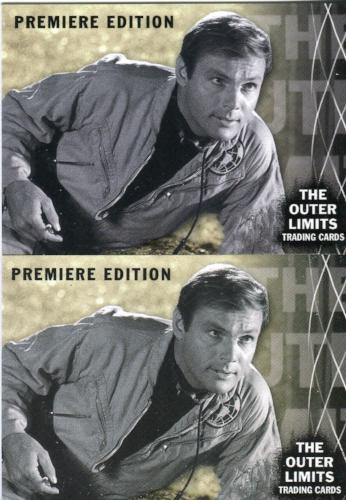 Outer Limits Premiere Edition Promo Card Lot 2 Cards   - TvMovieCards.com