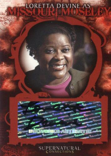 Supernatural Connections Loretta Devine as Missouri Mosely Autograph Card A-9   - TvMovieCards.com