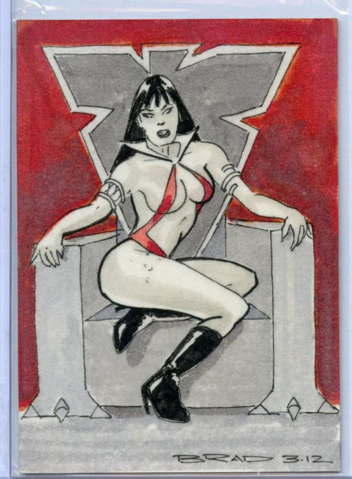 Vampirella New Series Sketch Card Sketchafex by Brad Chavarria   - TvMovieCards.com