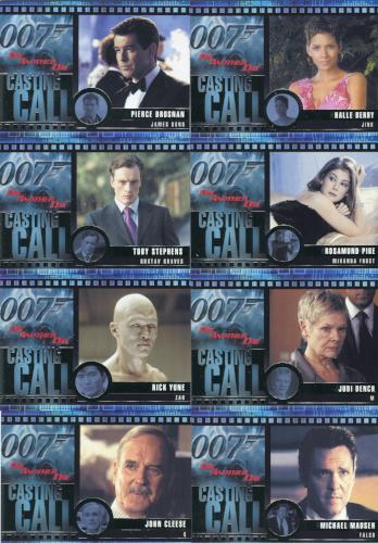 James Bond Die Another Day Casting Call Chase Card Set C1 thru C12   - TvMovieCards.com
