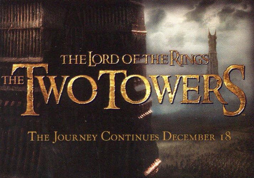 Lord of the Rings Two Towers Cadbury Promo Card Set 20 Cards   - TvMovieCards.com