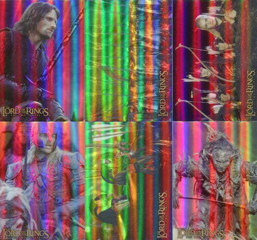 Lord of the Rings Two Towers Prismatic Foil Chase Card Set 10 Cards   - TvMovieCards.com