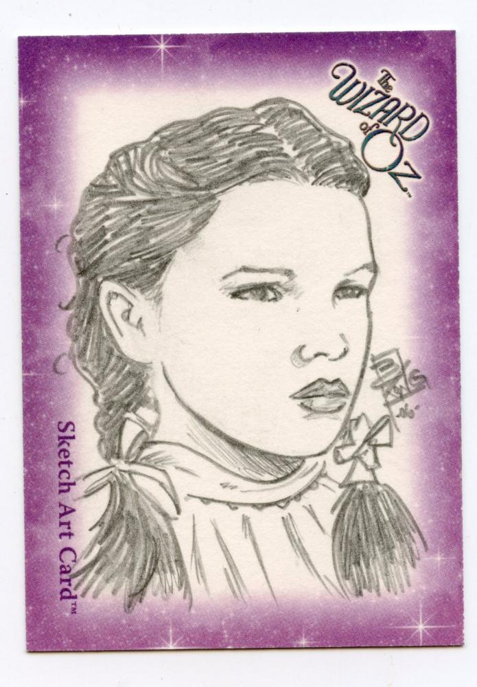 Wizard of Oz Sketch Card by Brian Kong - Dorthy
